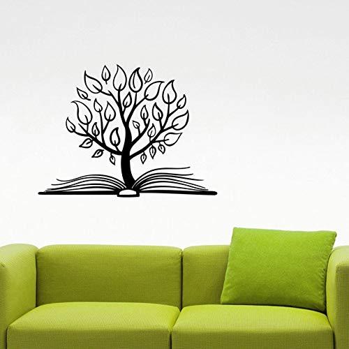 zqyjhkou Baum Buch Wandaufkleber Bibliothek Lernen Eon Vinyl Aufkleber Home Interior Dekorationen Studie Schule Kinderzimmer Klassenzimmer Decor73.5x99.75cm