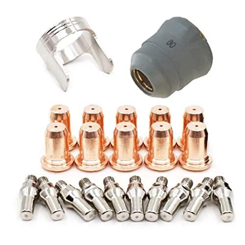 Tapa Protectora Anillo De Aislamiento Plasma Boquilla De Electrodo Pt60 Electrodo Boquilla Tapa Protectora Anillo De Aislamiento 22pcs