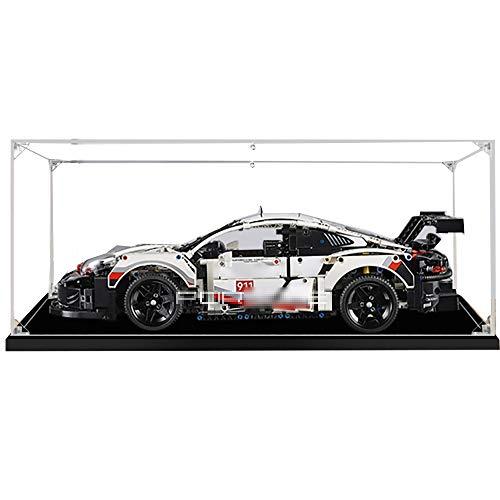 LODIY Vitrine Schaukasten für Lego 42096 Technic Porsche 911 RSR - Acryl Vitrine Display Case (Nicht Enthalten Lego Modell) (2mm)