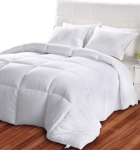 Utopia Bedding- Edredón de Fibra - Primavera-Verano - Fibra Hueca Siliconada, 1050 gramo - Blanco (Cama 135/150)