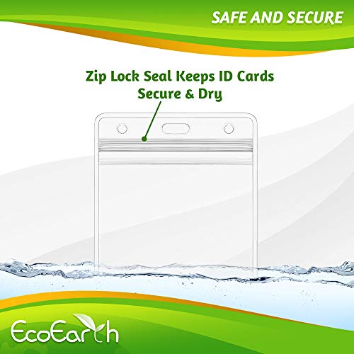 EcoEarth Horizontal Vaccine Card Protector (Sealable 4x3 Inch, 250 Pack), Waterproof ID Holder, ID Card Holder Bulk, Name Badge Holder, Name Tag Holder, Plastic Badge Holder, Clear Card ID Badge Photo #2