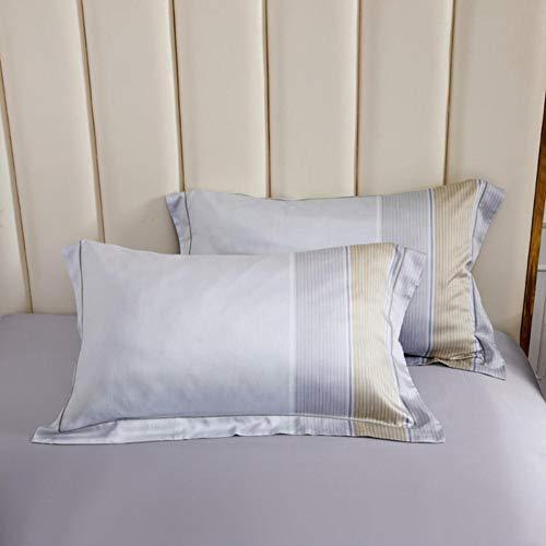 2 pezzi 100% seta naturale federa federa di alta qualità in pura seta federa A / B doppia copertura del cuscino per un sano sonno-di rui er, 48x74 cm 2 pezzi