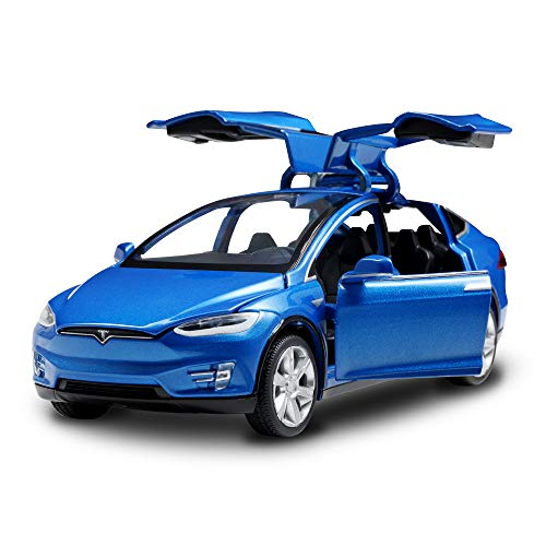 SASBSC Diecast Car 1:32 Pull Back Vehicles Alloy Model Cars Toy Cars for 4 to 12 Years Old Blue