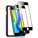 TORRAS Diamonds Hard Screen Protector for iPhone SE 2020, iPhone 8, iPhone 7 Tempered Glass Shatterproof [Edge-to-Edge Full Coverage], 2-Pack, 4.7 inch