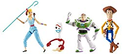 Pixar toy story four multi-figure play pack for new movie story telling  Woody, buzz lightyear, bo peep and forky figures are highly posable for dynamic action play  Officer giggle mcdimples figure comes in a special, tiny size  Carnival poster is...