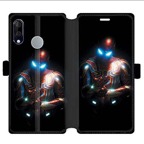 Housse cuir portefeuille pour Wiko View 3 Lite Spiderman Armure