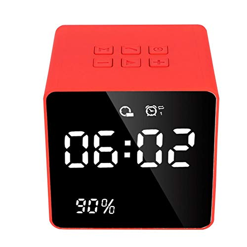Best Bargain Bluetooth Clock Speakers, Stylish Wireless Speaker Music Player Hands-Free Function Ste...
