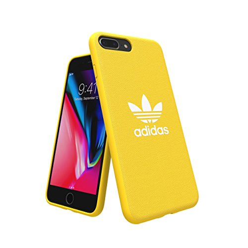 adidas Originales compatibles con Apple iPhone 8 Plus Case Adicolor Snap Funda, TPU Funda para teléfono móvil también Compatible con Apple iPhone 6 Plus/6S Plus/7 Plus – Amarillo