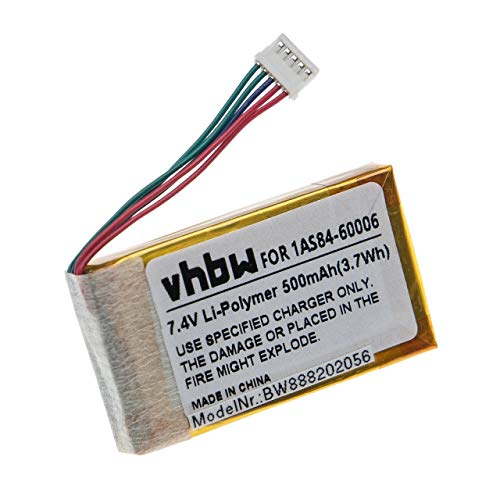 vhbw batería Compatible con HP Sprocket 200 Impresora copiadora escáner Impresora de Etiquetas (500mAh, 7,4V, Li-Ion)