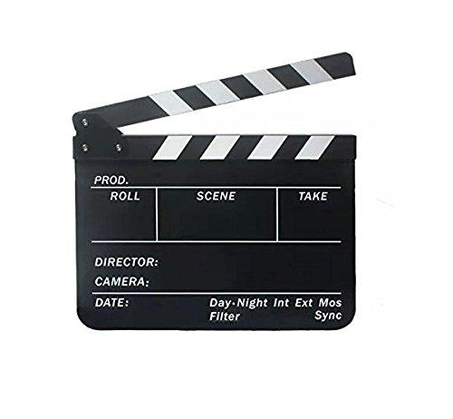 yeah67886Acryl Film Movie Action Szene Schiefer Clap Klappen (schwarz)
