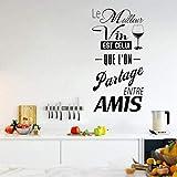 Stickers muraux en PVC Les décalcomanies du marché du vin français décorent les bars pour les maisons de cuisine et leur meilleur vin est une sorte de sticker mural 58X76CM à partager entre amis