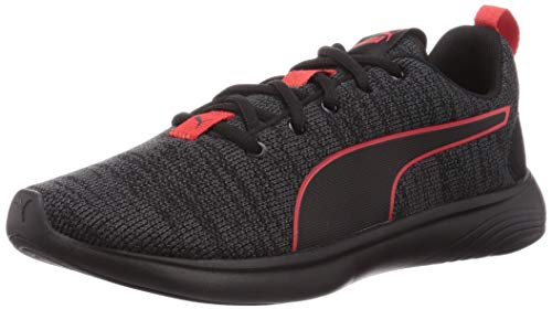 PUMA Herren SOFTRIDE VITAL Clean Straßen-Laufschuh, Asphalt Black-High Risk Red, 41 EU
