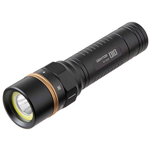 GENTOS(ジェントス) LED 懐中電灯 USB充電式 【明るさ500ルーメン/実用点灯3.5時間/耐塵/防水】 専用充電池使用 DIO DI-186R ANSI規格準拠