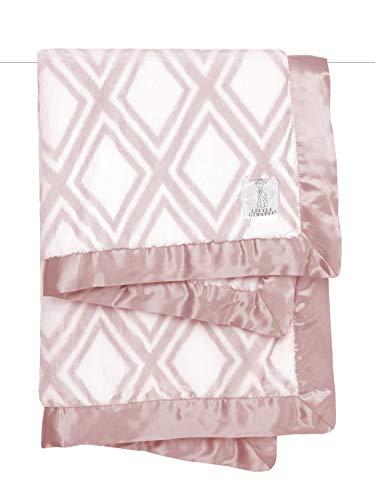 Little Giraffe Luxe Diamond Baby Blanket, Dusty Pink
