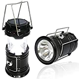 BMG LED Rechargeable Solar Emergency Plastic Light Lantern with USB Mobile Charging, Torch Point, 2...