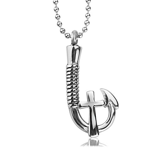YQMR Colgante Collar para Mujer,Vintage Colgante Collar Clásico Plata Cruz Gancho Oración Colgante Retro Joyería Unisex Regalo para Parejas Cumpleaños Dama Aniversario De Boda