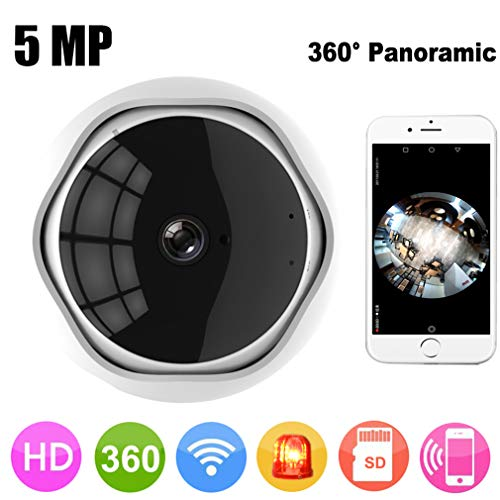 5MP 360 Degree Panoramic Fish Eye IP Camera Multi-purpose Wifi Night Veresion kamera APP Afstandsbediening Draadloos P2P IP Web(zonder kaart)