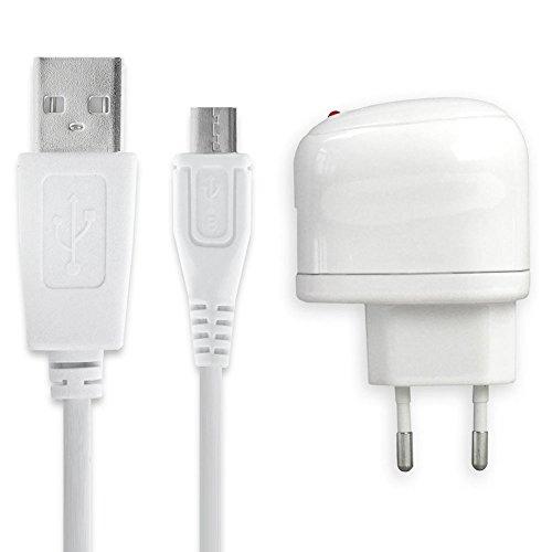 subtel® Cargador - 1m (5V, Micro USB, 1A / 1000mA) Compatible con JBL Flip 2 3 4, Charge 1 2 3, Pulse 1 2 3, Go 1 2, Clip 1 2, Link 10 20, E55BT, Endurance, Soundgear BTA Cable de Carga Blanco