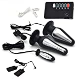 Mrshen Electric Toy Set Electric Shock Sticker Ni.p.ple Clip Electric Passion Plug Amal Plugs Electric Relaxation Gifts for Couple Electric Shock Stimulation for Beginners (6-Piece)