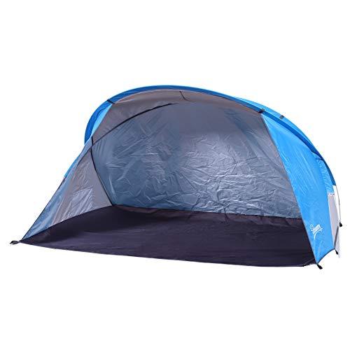 Outsunny Carpa para Playa Tipo Tienda de Campaña Máximo 2 Personas Ligera Plegable y Portátil con Bolsa de Almacenaje 225x145x115cm Azul