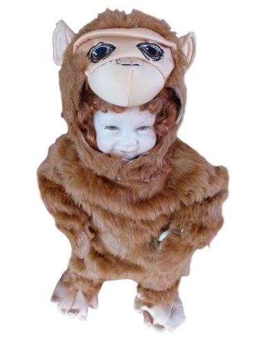 Affen-Kostüm, Zo12 Gr. 74-80, für Klein-Kinder, Babies, Affen-Kostüme Affe Kinder-Kostüme Fasching Karneval, Kleinkinder-Karnevalskostüme, Kinder-Faschingskostüme, Geburtstags-Geschenk