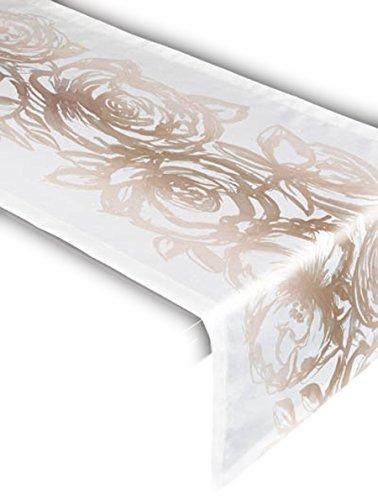Friedola 46601 Tischdecke Flair Panama, Design-High Hopes, 40 x 140 cm, Fawn