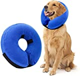 Protective Inflatable Pet Collar,Dog Recovery Cone After Surgery-Soft Adjustable Comfortable,Does Not Block Version