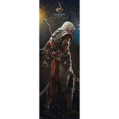 Grupo Erik Editores Puerta - Poster con diseño Assassins Creed Origins, 53 x 158 cm