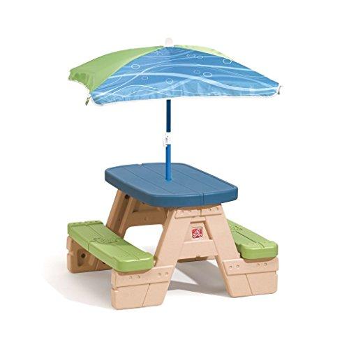 SSITG Enfant Table de pique-nique pliable avec parasol MUT Ensemble