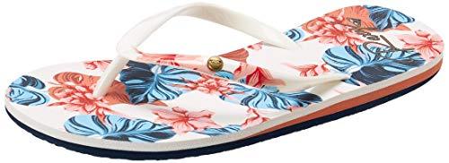 Roxy Damen Portofino Flip Flop Sandals Flipflop, Weiß Weiß Druck 202, 38 EU