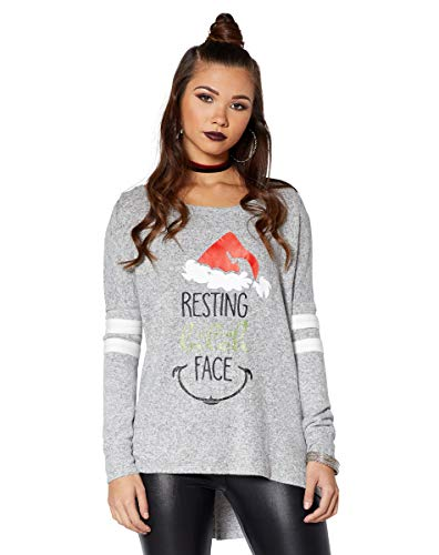 Spencer Gifts Resting Bitch Face Ugly Christmas Shirt - M