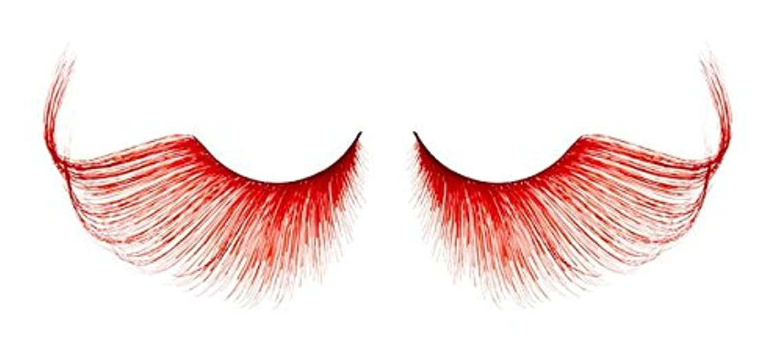 Zink Color Red False Synthetic Eyelashes W411 Dance Halloween Costume