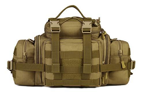 Yakmoo Gran Bolso de Cintura Molle Sistema Estilo Militar Táctico Bolsa de Riñonera Impermeable al Aire Libre