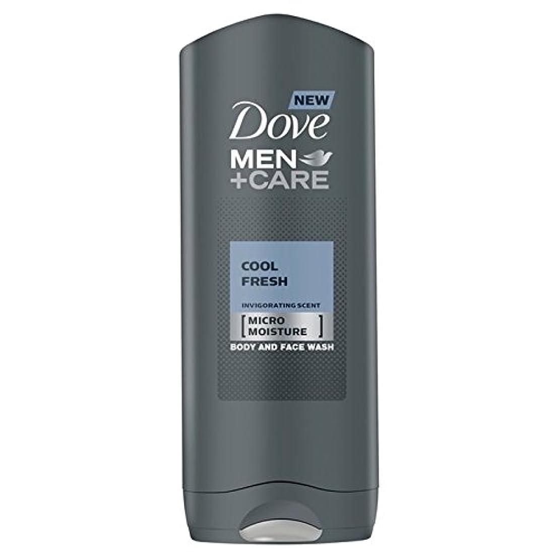 行進リンス担保クールフレッシュシャワージェル400ミリリットルケア+鳩の男性 x2 - Dove Men+Care Cool Fresh Shower Gel 400ml (Pack of 2) [並行輸入品]