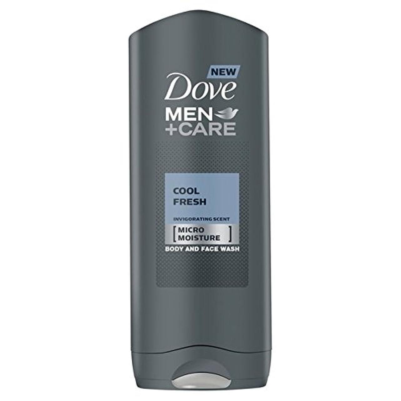 粘性のあごびっくりするクールフレッシュシャワージェル400ミリリットルケア+鳩の男性 x4 - Dove Men+Care Cool Fresh Shower Gel 400ml (Pack of 4) [並行輸入品]
