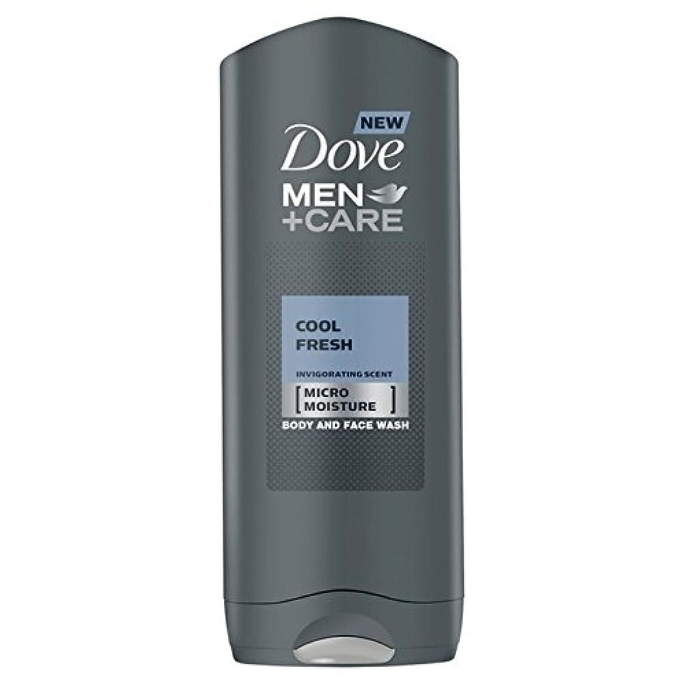 去る底宇宙のDove Men+Care Cool Fresh Shower Gel 400ml - クールフレッシュシャワージェル400ミリリットルケア+鳩の男性 [並行輸入品]