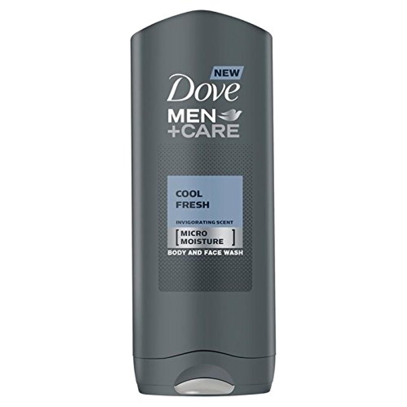 故障ボタンコードレスクールフレッシュシャワージェル400ミリリットルケア+鳩の男性 x2 - Dove Men+Care Cool Fresh Shower Gel 400ml (Pack of 2) [並行輸入品]