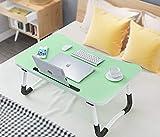 Cama portátil ajustable con soporte para cama y sofá, bandeja de desayuno, bandeja plegable, bandeja de desayuno, bandeja de café, sofá de lectura o soporte de piso para niños (60 x 40 cm)