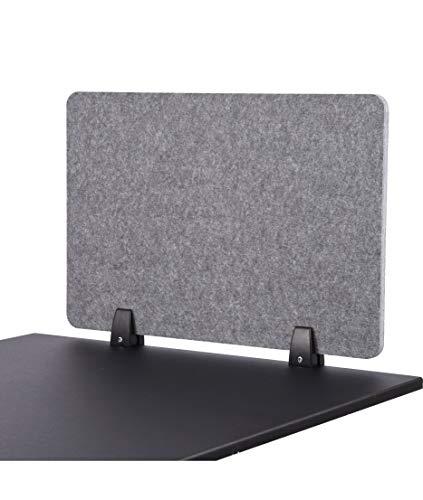 S Stand Up Desk Store ReFocus™ Raw Akustische Klemmtrennwand - Reduzieren Sie Lärm und visuelle Ablenkungen mit diesem leichten, am Schreibtisch montierten Sichtschutz (Schlossgrau, 60 x 41 cm)