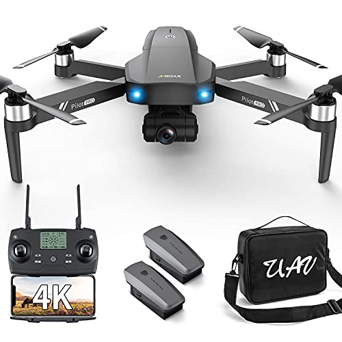 GPS 4k Drones with 2 axis Gimbal EIS Camera for Adults Beginners,3280ft Long Range Professional Quadcopter with Brushless Motor, 50Mins Flight Time WIFI 5G FPV Transmission Auto Return Foldable