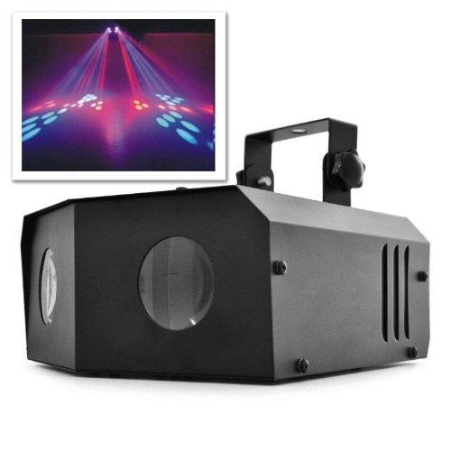beamz Nomia Riflettore Effetto Luce Dual Moonflower Faro LED luci Discoteca (6 luci RGB, Microfono Integrato, Supporto Incluso)
