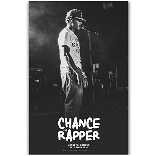 ZHHCVB Chance The Rapper Chancelor Rap Music- Black and White Poster and Canvas Wall Art Living Room Homedecoration- 20x28 Inch Frameless 1 PCS