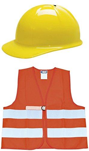 BUSDUGA 2726 Bauhelm und Warnweste für Kinder , als Set