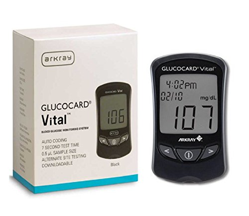Arkray Glucocard Vital Glucose Meter Auto Coding