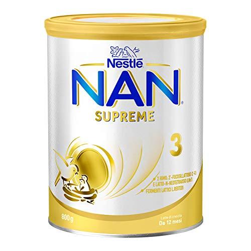Nestlé Nan Supreme 3 da 12 Mesi, Latte di Crescita in Polvere Latta, 800 g