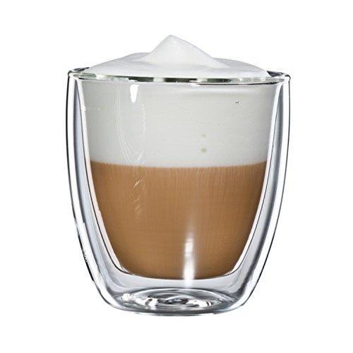 bloomix C-011-250-G Cappucchino Grande doppelwandiges Thermo-Kaffeeglas 2-er Set