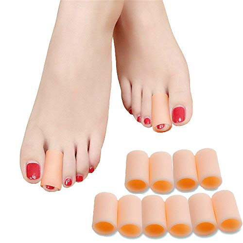 SMFHealth Toe Sleeves,Toe Protectors 10 Pcs (Color)