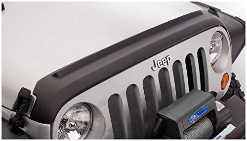 Bushwacker 14093 Black Hood Stone Guard for 2018-2019 Jeep Wrangler JL