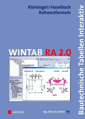 WINTAB RA 2.0, 1 CD-ROMBautechnische Tabellen interaktiv. Für Windows 95/98/ME/2000/NT 4.0