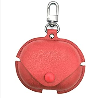 For Huawei Freebuds 4i Leather Cover Anti Shock With Key Metal Holder (Red)